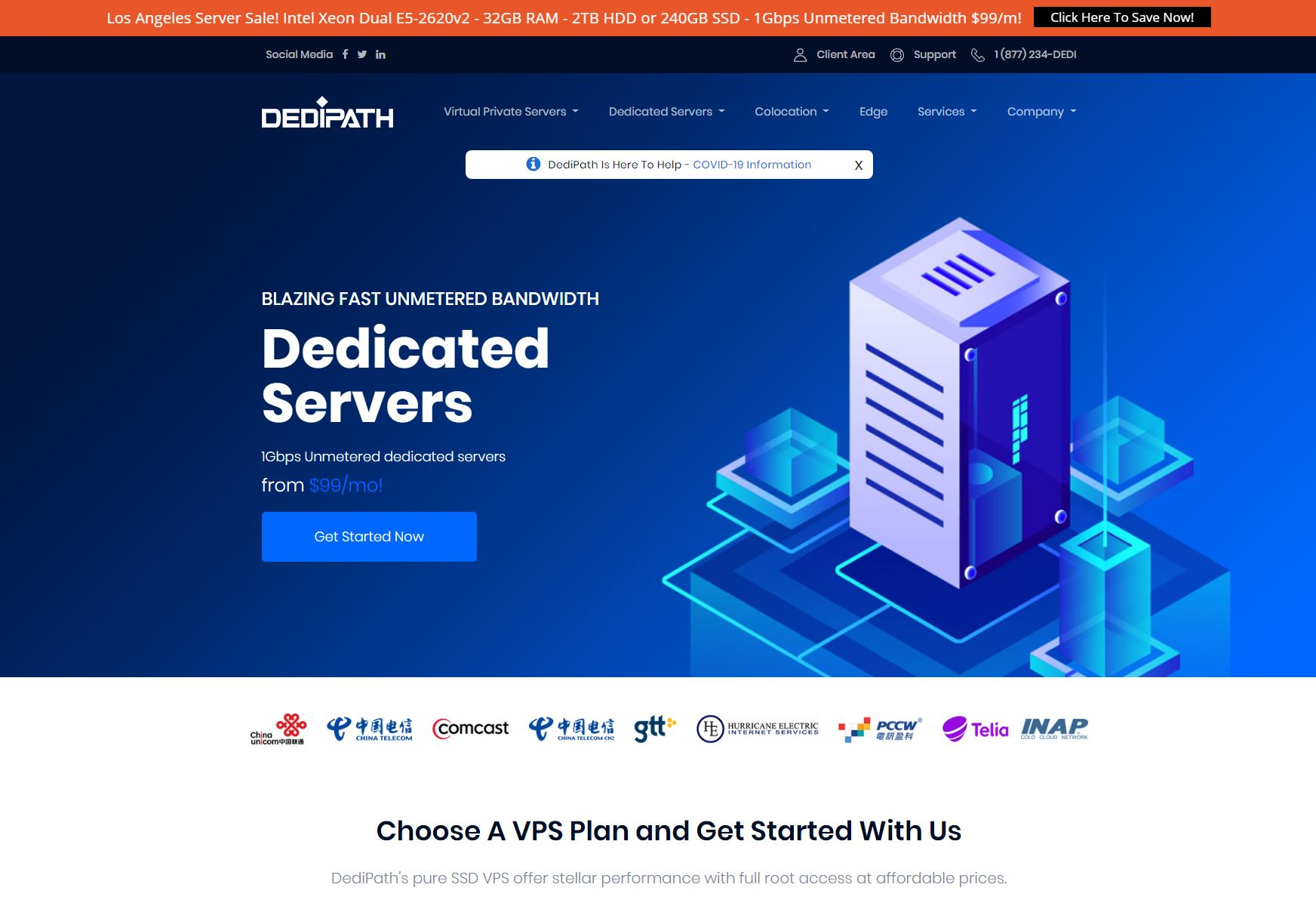 DediPath-OpenVZ VPS,KVM VPS和专用服务器