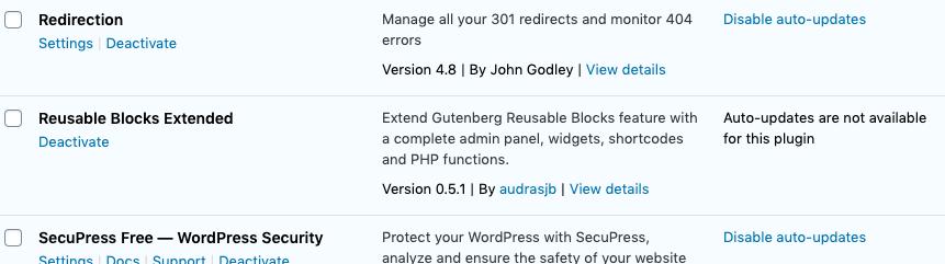 WordPress 5.5+如何控制插件和主题自动更新的界面元素? (https://www.yunsxr.com/) WordPress开发教程 第2张