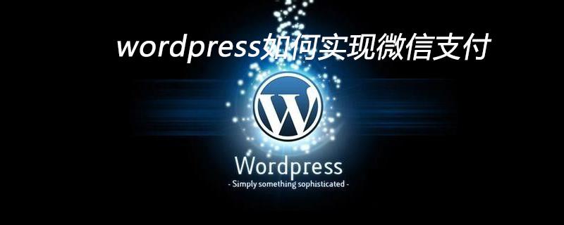 WordPress网站微信支付如何设置? (https://www.yunsxr.com/) WordPress基础教程 第1张