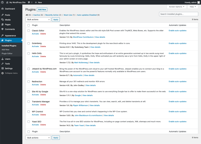 如何控制WordPress 5.5+中插件和主题自动更新的界面元素? (https://www.yunsxr.com/) WordPress开发教程 第1张