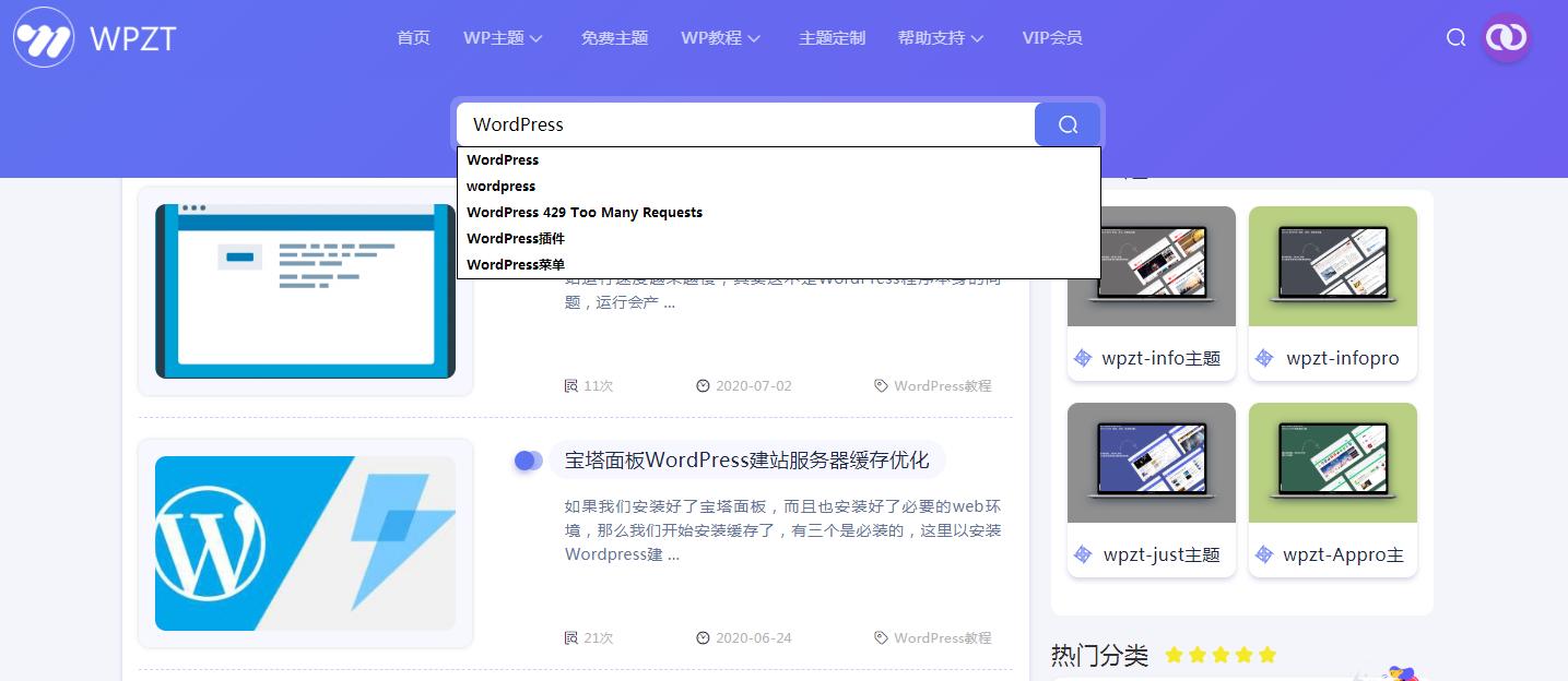 WordPress主题开发时如何在搜索框输入时显示下拉关键词列表? (https://www.yunsxr.com/) WordPress开发教程 第1张