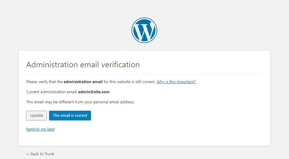 WordPress如何实现屏蔽站点管理员邮箱验证? (https://www.yunsxr.com/) WordPress开发教程 第1张