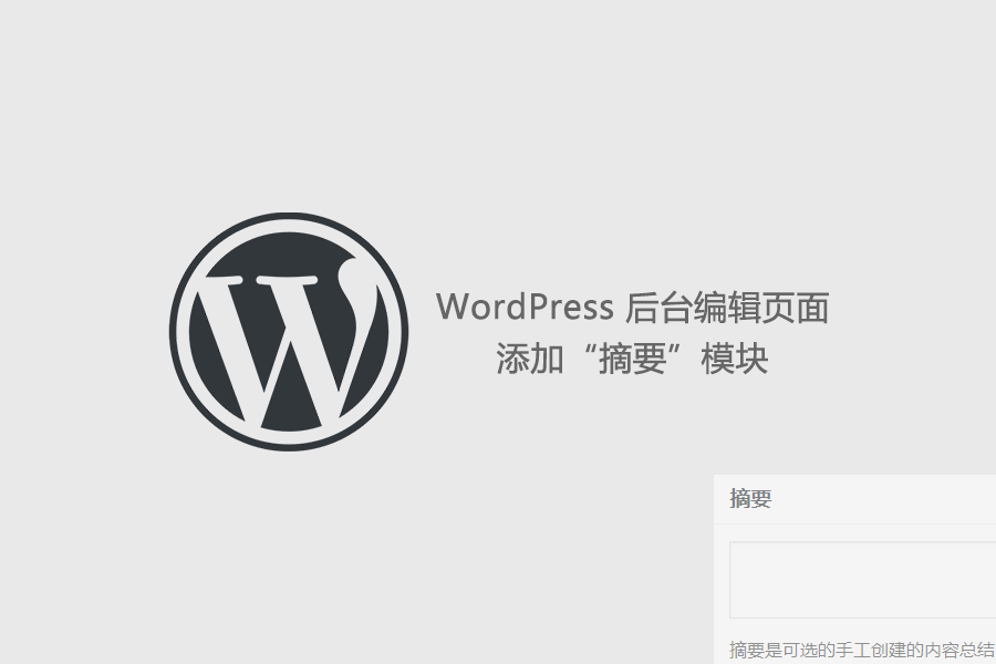 "WordPress 编辑页面添加""摘要""模块 (https://www.yunsxr.com/) WordPress基础教程 第1张"