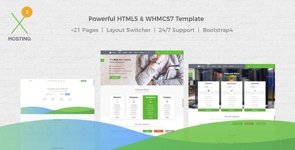 X-DATA – WHMCS7 & HTML5 主机模板