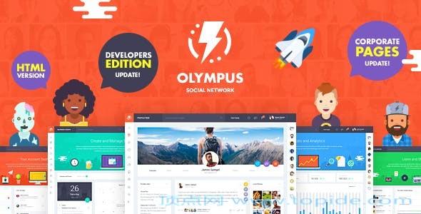 Olympus – 社交网HTML静态模板