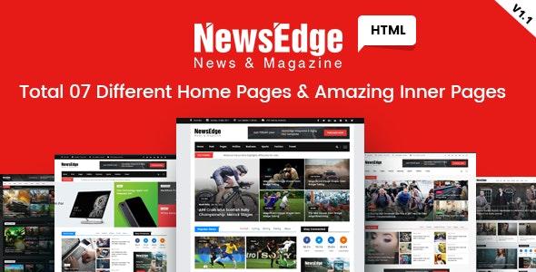 NwsEdge v1.1 – 新闻 & 杂志类 HTML 模板