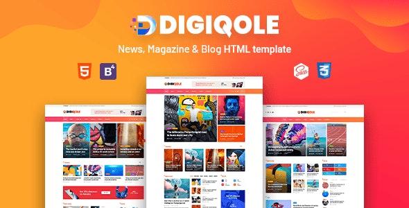 Digiqole – 新闻、杂志、博客类 HTML 模板