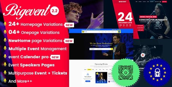 BigEvent v2.3.4 -WordPress 会议活动主题