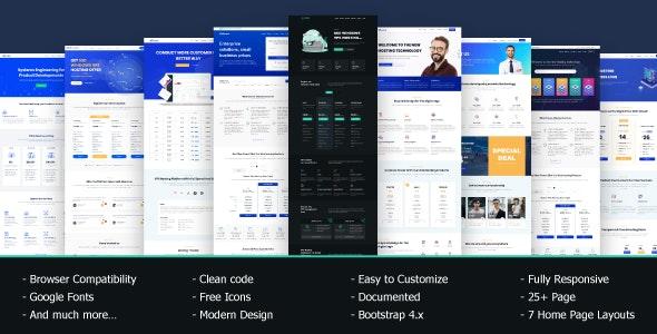VRocket – HTML5 主机模板