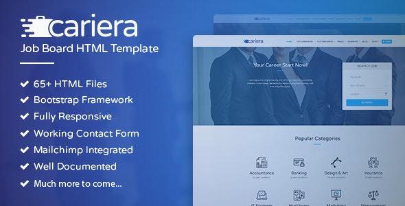 Cariera – 求职招聘类模板