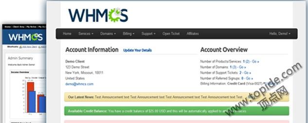 WHMCS P2H插件 – 发帖申请虚拟主机插件