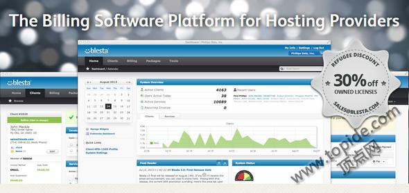 Blesta v3.6.1 – PHP主机空间账务管理平台破解版