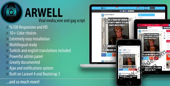 Arwell V1.6 – GAG图片视频分享程序