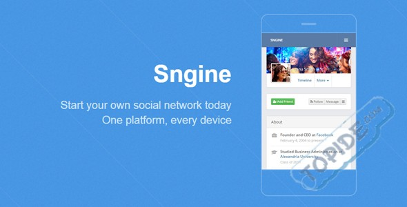 Sngine v2.5.1 – PHP社交平台源码