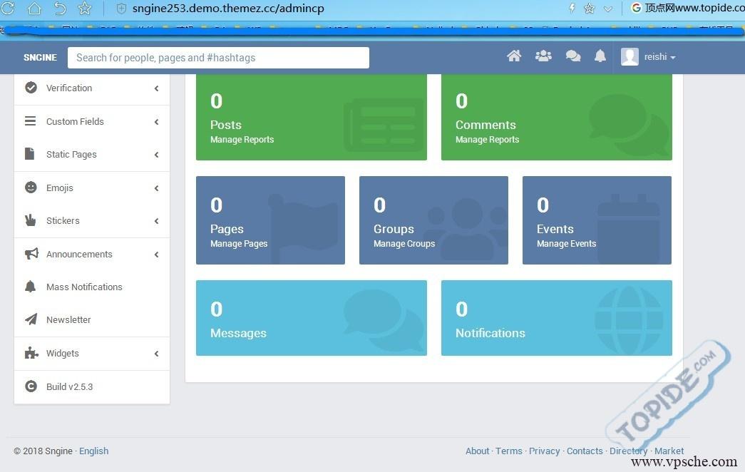 Sngine v2.5.3 – PHP社交平台源码