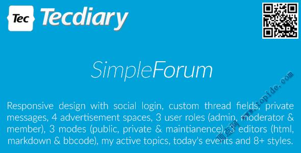 Simple Forum v1.3.2 – 响应式PHP公告板破解版