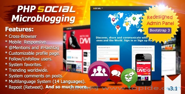 PHP Social Microblogging v3.1.1 – PHP社会化微博源码