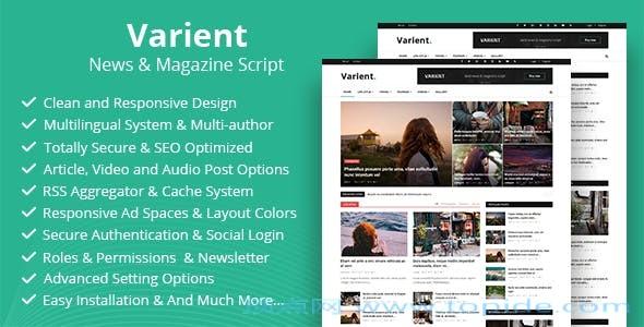 Varient v1.5.5 – PHP文章杂志系统