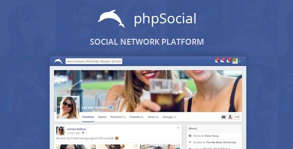 phpSocial v5.4.0 – PHP社交平台源码