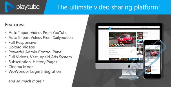 PlayTube v1.4.5.1 – PHP视频上传分享源码