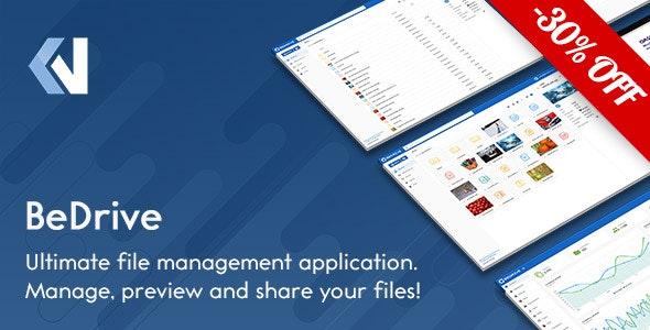 BeDrive v2.2.0- PHP文件分享和云存储源码破解版
