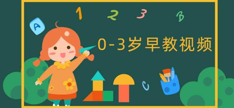 0-3岁早教中心互动游戏(96节课视频)