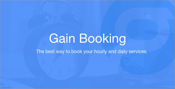 Gain Booking v1.1.3 – PHP预定源码