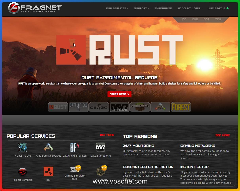 #游戏服务器#fragnet  steam开服推荐 社区服务器 全球30个数据中心