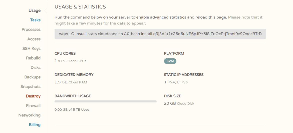 #CloudCone#老客户优惠 $10/年/1核/1.5GB内存/20GB SSD硬盘/5T流量 免费AnyCast DNS
