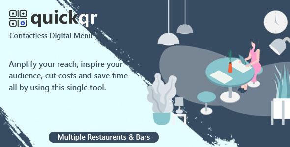 QuickQR-Saas v5.8 -PHP非接触式餐厅二维码菜单制作器