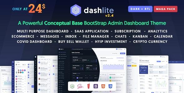DashLite v2.4 – Bootstrap 响应式 Admin Dashboard 模板