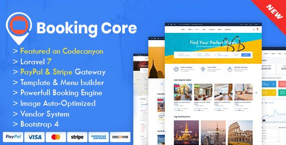 Booking Core v1.9.3 – PHP旅游预订系统
