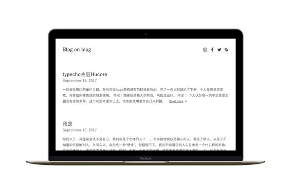 Hucore一款极致简约的单栏Typecho主题.jpg