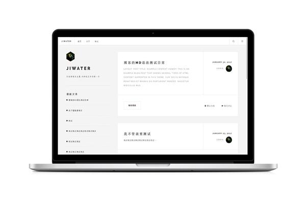 JiWater简洁自适应Typecho主题.jpg