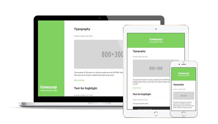 Greenray一个简洁的Typecho主题.jpg