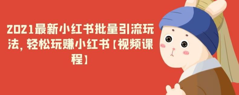 2021最新小红书批量引流玩法,轻松玩赚小红书【视频课程】
